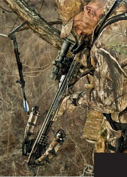 Bow and accessory hangers are great assets for stands that do not have a safety bar. Realtree offers a variety of these handy hangers.