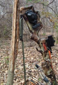 Mechanical cocking aides such as the ACUdraw make it easier to cock a bow, even when hunting from a tree stand.