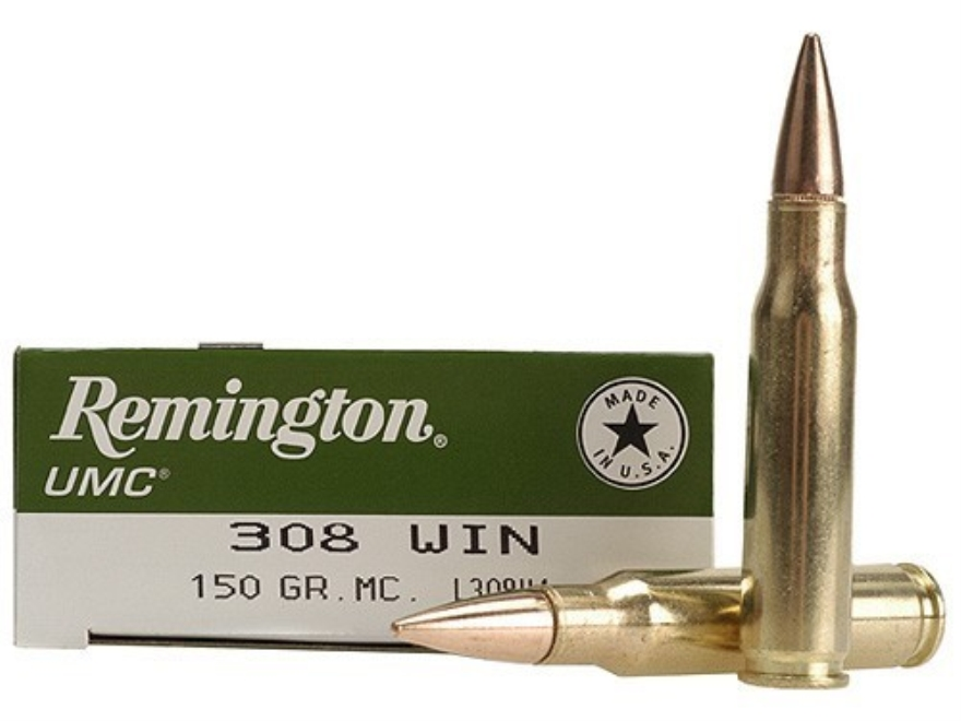 Remington UMC Ammunition 308 Winchester 150 Grain Full Metal Jacket