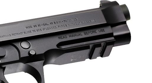 Beretta 96A1 - rail